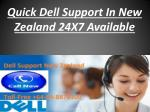 Quick Dell Support In New Zealand 24X7 Available