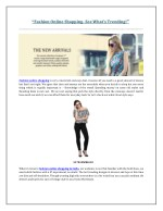Fashion Online Shopping- See What's Trending!