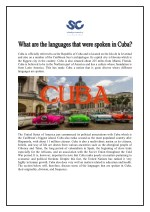 What are the languages that were spoken in Cuba?