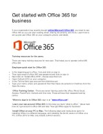 Get started with Office 365 for business