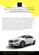 Mercedes Benz Pre-owned Cars in India