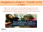 Struggling in a Subject- Consider to Get a Tutor