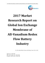 2017 Market Research Report on Global Ion Exchange Membrane of All-Vanadium Redox Flow Battery Industry