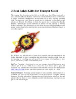 Buy And Send Rakhi and Gift Online to India |