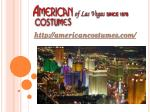 Costume Rental Las Vegas