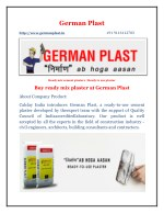Buy Ready Mixed cement plaster at German Plast