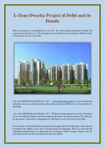 L-Zone Dwarka Project of Delhi and its Details