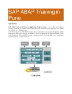 SAP ABAP Training in Pune