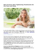 Non-Invasive Skin Tightening Treatments for the Face and Body
