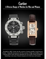 Cartier a Diverse Range of Watches for Men and Women