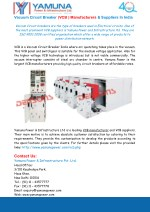 Vacuum Circuit Breaker (VCB ) Manufacturers & Suppliers In India