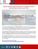 Digital Pathology Market-Manufacturers, Suppliers & Exports Research Report and Forecast to 2025
