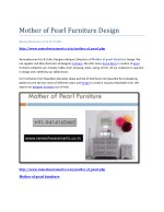 Mother of pearl furniture design