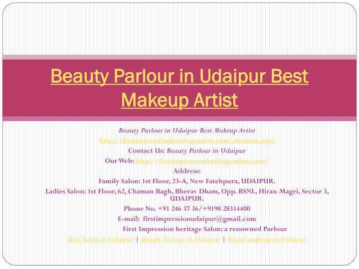 beauty parlour in udaipur best makeup artist n.