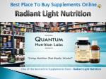 Best Place To Buy Supplements Online