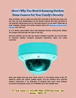 Samsung Outdoor Dome Camera For Your Family's Security