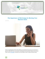 The Importance of Web Design for Meeting Your Business Goals