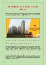 The Role of Law in the Real Estate Market