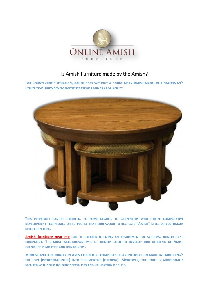 Ppt Is Amish Furniture Made By The Amish Powerpoint Presentation