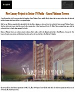 New Luxury Project in Sector 79 Noida - Gaurs Platinum Towers