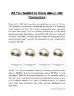 All You Wanted to Know About DB9 Connectors