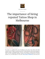 The Importance of Hiring a reputed Tattoo Shop in Melbourne