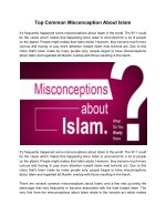 Top Common Misconception About Islam