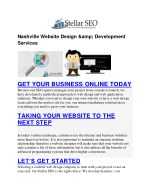 Nashville Website Design & Development Services