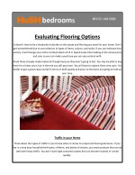 Evaluating Flooring Options-Carpets and flooring – HuSH Bedrooms