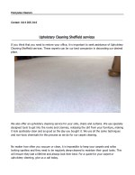 Upholstery Cleaning Services in Sheffield