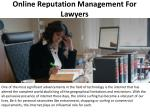 Online Reputation Management For Lawyers