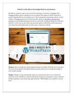 Website on WordPress Gives Right Worth to any Business
