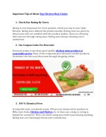 Important tips of about buy chicken meat online -lemeats