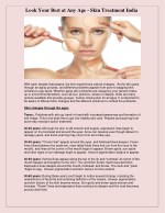 Look Your Best at Any Age - Skin Treatment India