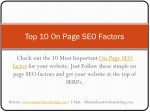 Top Most Important On Page SEO factors | Amit Web Marketing