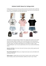 Hottest Outfit Ideas for College Girls