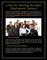 4 Tips for Selecting the Right Employment Agency!
