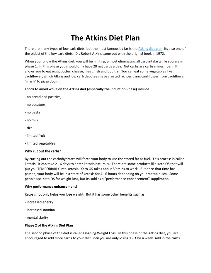 Ppt The Atkins Diet Plan Powerpoint Presentation Free Download Id 7605556