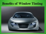 Benefits Of Window Tinting