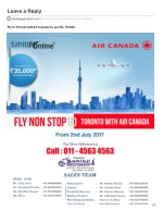 Fly Toronto with Air Canada