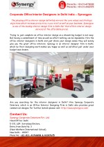 Office Interior Designers in Delhi India – Synergyce