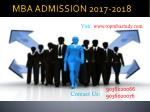 MBA ADMISSION 2017 IN BANGALORE