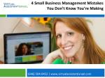 4 Small Business Management Mistakes You Don't Know You're Making