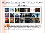 Watch Latest Hollywood 2017 Movies