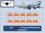 Do's and Don'ts to Prevent Parking lot Accidents