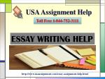 Eassy Writing Help Toll Free:-1-844-752-3111