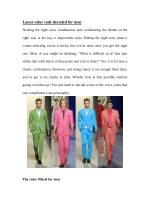 Latest color code decoded for men