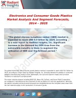 Electronics and Consumer Goods Plastics Market Analysis, Growth and Overview Report To 2014 - 2025