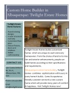 Custom Home Builder in Albuquerque: Twilight Estate Homes