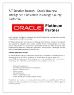 Oracle Business Intelligence Consultant in Orange County California
